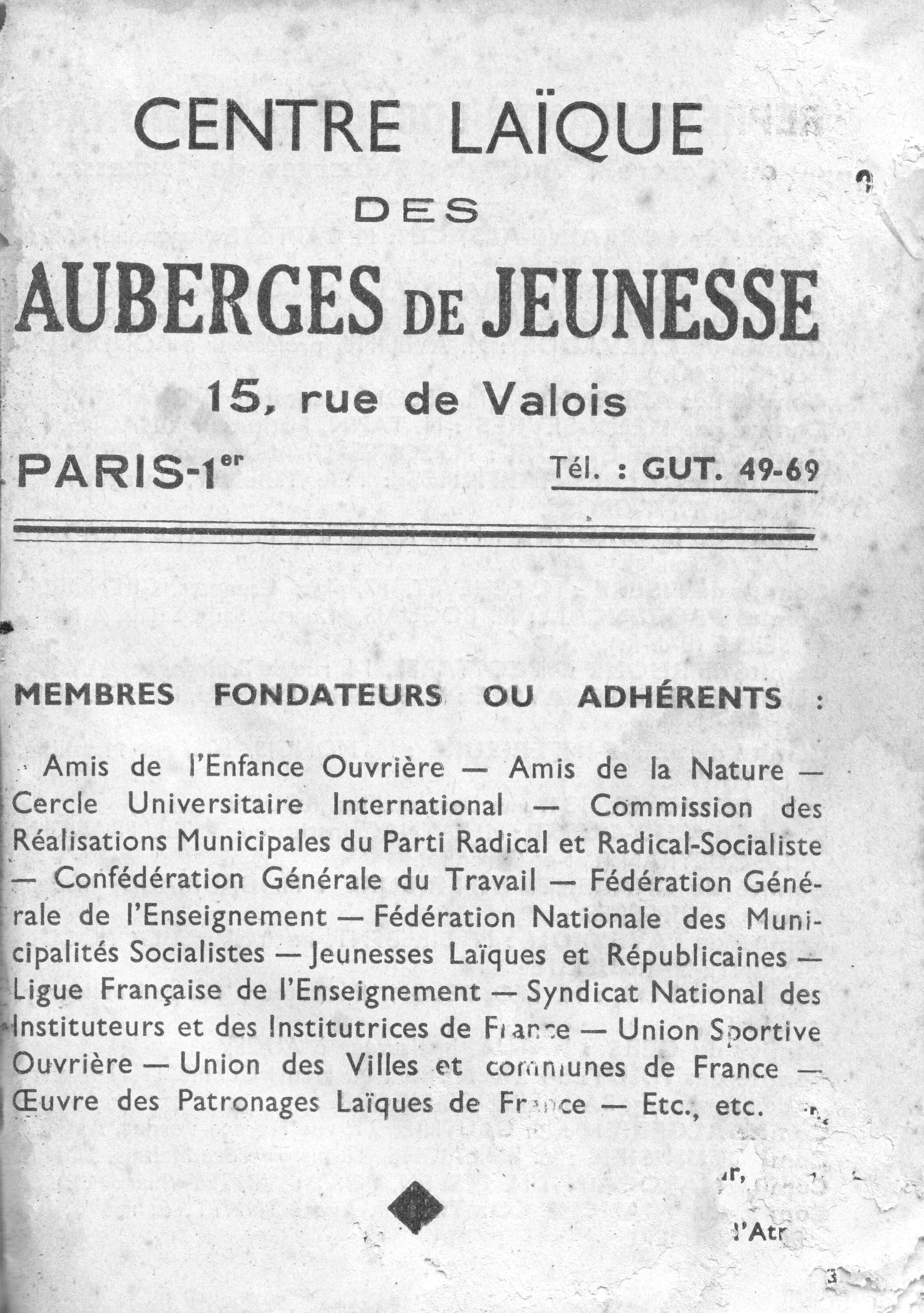 1937 (Guide des auberges de jeunesse) - 2